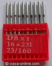 Needle for Industrial Sewing machine DBx1 16x231 23/160  Industrienähnadeln DBx1 16x231 23/160