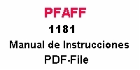 Pfaff 1181 Bedienungsanleitung auf Spanisch PDF-file  Pfaff 1181 Instruction manual in Spanish PDF-file