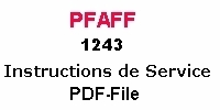 Pfaff 1243 Bedienungsanleitung auf Französisch PDF-file  Pfaff 1243 Instruction manual in French PDF-file