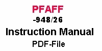 Pfaff -948/26 Bedienungsanleitung auf Englisch PDF-file  Pfaff -948/26 Instruction manual in English PDF-file