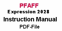 Pfaff Expression 2028 Bedienungsanleitung auf Englisch PDF-file  Pfaff Expression 2028 Instruction manual in English PDF-file